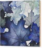 Winter Maple Leaves Wood Print