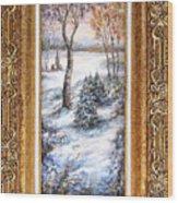 Winter. Wood Print