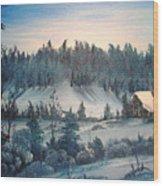 Winter Meadow Wood Print