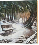 Winter Moments Wood Print