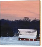 Winter Morn Wood Print