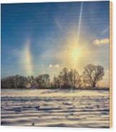 Winter Morn In Minnesota Wood Print