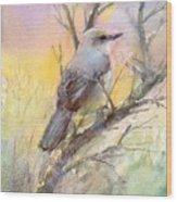 Winter Morning - Mockingbird Wood Print