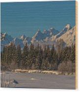 Winter Morning At The Grand Wood Print