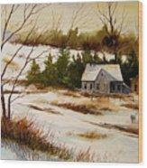 Winter Morning Wood Print