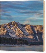 Winter Morning South Lake Tahoe Wood Print