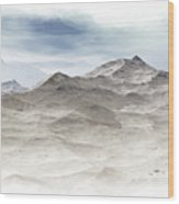 Winter Mountain Peaks Wood Print