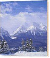 Winter Mountains Wood Print
