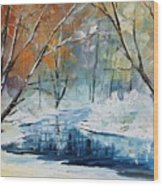 Winter New Wood Print