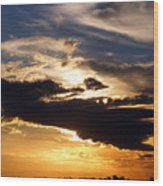 Winter Ocean Sunset At Cherry Grove Beach Wood Print