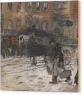 Winter On 21st Street - New York Wood Print