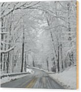 Winter On Buffalo Road Wood Print