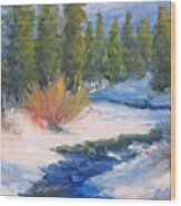 Winter On Gore Creek Wood Print