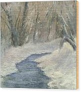 Winter On Stormcreek Wood Print