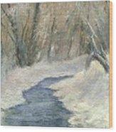 Winter On Stormcreek Wood Print