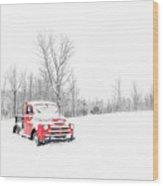 Winter On The Farm Etna New Hampshire Wood Print