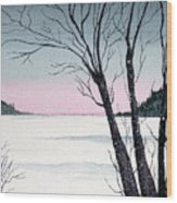 Winter On The Lake Wood Print