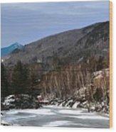 Winter On The Pemi Wood Print