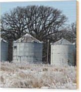 Winter On The Prairie Number 1 Wood Print