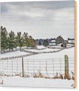 Winter Ontario Farm 3 Wood Print