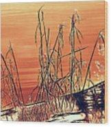 Winter Orange Wood Print