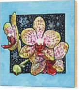 Winter Orchids Wood Print