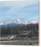 Winter Park Colorado Wood Print