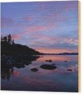 Winter Pastel Sundown Serenity Wood Print