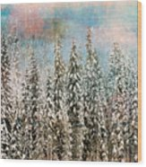 Winter Pastels Wood Print