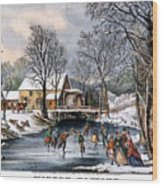Winter Pastime, 1870 Wood Print by Granger
