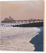 Winter Pier Wood Print