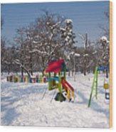Winter Playground Wood Print