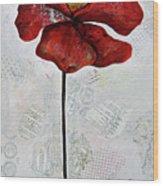 Winter Poppy I Wood Print