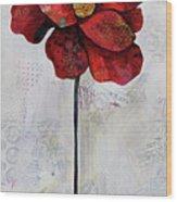 Winter Poppy II Wood Print