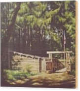 Winter Quarters - Lewis And Clark Wood Print