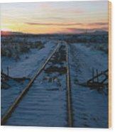 Winter Rails 1 Wood Print