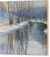 Winter Reflection Wood Print