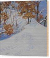 Winter Ridge Wood Print