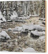 Winter River Wood Print