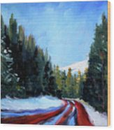Winter Road Trip Wood Print