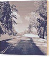 Winter Roads Wood Print