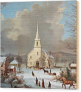 Winter Scene, C1875 Wood Print