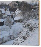 Winter Scene In North Wales Wood Print