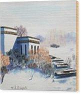 Winter Scene Wood Print