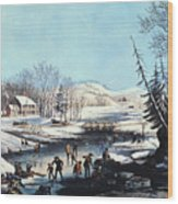 Winter Scene: Morning 1854 Wood Print