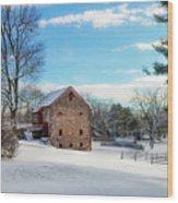 Winter Scene On A Pennsylvania Farm Wood Print