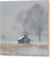 Winter Scene - Valley Forge Wood Print