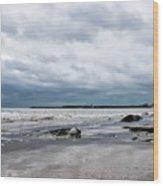 Winter Seascape 2 - Lyme Regis Wood Print