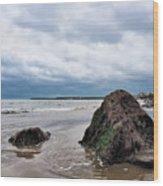 Winter Seascape - Lyme Regis Wood Print