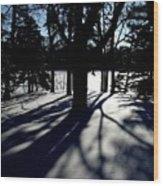 Winter Shadows 2 Wood Print